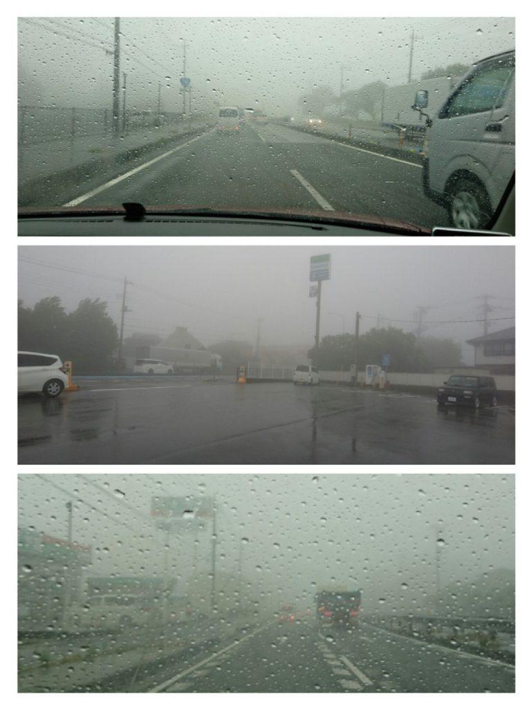 嵐の中での占い出張鑑定でしたよ。
